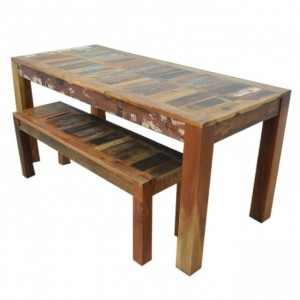Nirvana Reclaimed boat wood 1.8m dining bench setting