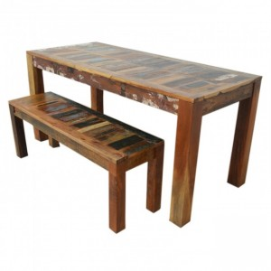 Nirvana Reclaimed boat wood 1.6m dining bench setting