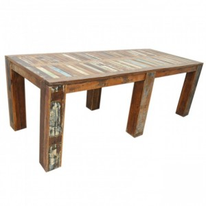 Nirvana Reclaimed Farmhouse Dining Table 2.2m 6 legs