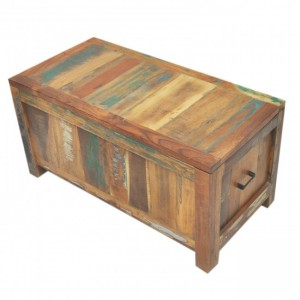 Nirvana Reclaimed wood boat Timber Blanket Box Toy chest