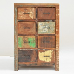 Nirvana Reclaimed timber Dresser Tallboy Chest of 8 drawers