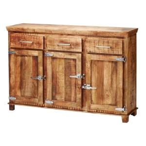 Cromer Reclaimed Wood Buffet Sideboard 3 Drawer & 3 Door Natural