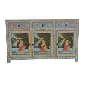Krishna Hand Painted Sideboard