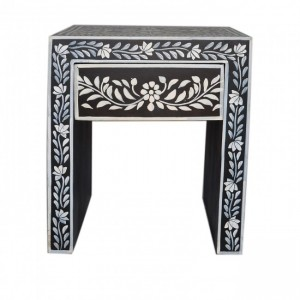 Pandora Hand Painted Bone Inlay Lamp Table