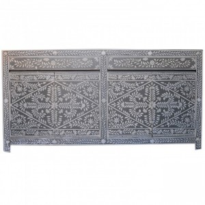 Pandora Bone inlay Grey Floral Sideboard