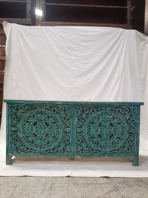 Indian Jali Hand Carved Solid Wooden Beautiful Cabinet Sideboard 158x40x73cm