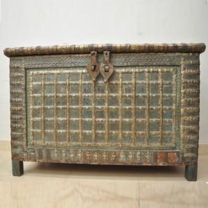 Indian Brasswork Antique Blanket Box / Pitara