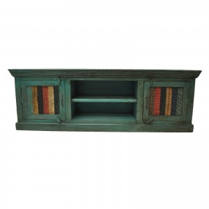 Rainbow Carved Solid wood Panel TV UNIT