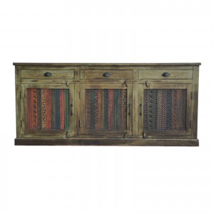 Rainbow Carved Solid wooden Panel Sideboard