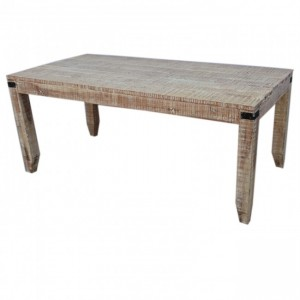 Metal Factory Dining Table Large 1.8m WHITE