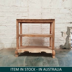 Wooden Console Hall Table Natural 100x40x90 cm