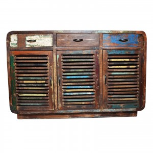 SALVAGE Reclaimed wood Sideboard Buffet Hutch