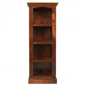 Takat Metal Jali Natural Indian 4 Shelf Alcove Bookcase