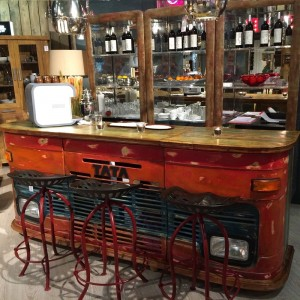 Transport Metal Industrial Jodhpur Truck Home Commercial Bar Counter with storage