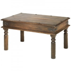 Takat Metal Jali Natural Indian Thacket Coffee Table