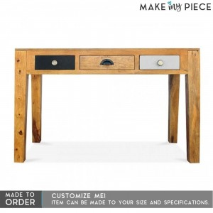 Vivid Solid Mango wood Console Hall table Study computer Desk 1.3m