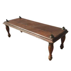 Vintage Indian Solid Wood Swing Coffee Table Natural 147cm
