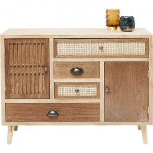 Vivid Rattan Contemporary chest of drawers dresser sideboard 90cm