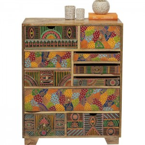 Vivid India Contemporary Mango Wood Tallboy Chest of drawers