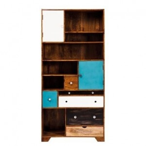 Vivid Solid Wood Contemporary Modern Bookshelf