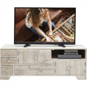 Vivid Blanche Contemporary Mango Entertainment TV Unit Media Console