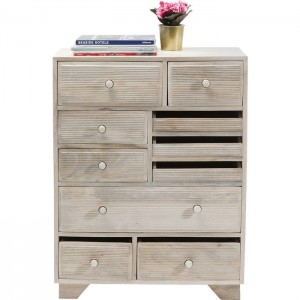 Vivid Blanche Contemporary Mango Wood Tallboy Chest of drawers 90cm