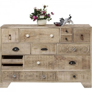 Vivid Sahara Contemporary chest of drawers dresser sideboard 14 drawers