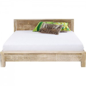 Vivid Sahara Contemporary Mango Wood Bed Frame King / Queen Mattress