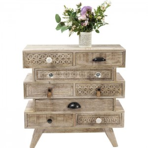Vivid Sahara Contemporary Mango Wood Small Dresser Chest of drawers