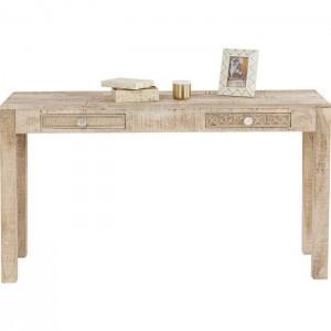 Vivid Sahara Contemporary Mango Console Hall Table Study Desk 135cm