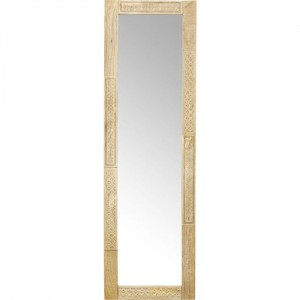 Vivid Sahara Contemporary Mango Wood Bathroom Wall Mirror 180x56cm