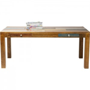 Vivid Screen Contemporary Mango Wood Dining Table 1.8m 6-8 seater