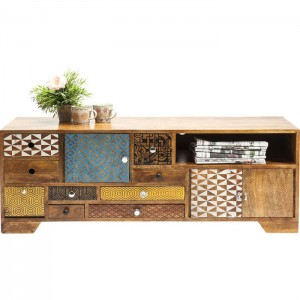 Vivid Screen Contemporary Mango Entertainment TV Unit Media Console