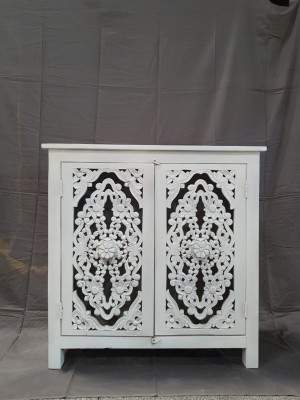 Indian Jali Hand Carved Solid Wooden Beautiful Buffet Cabinet Sideboard 90x45x100cm