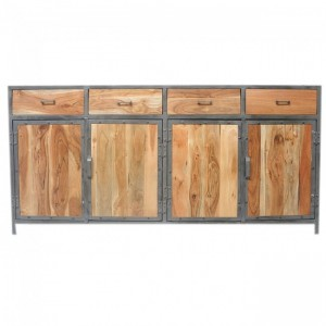 Angle Industrial French Sideboard Buffet Natural 180cm