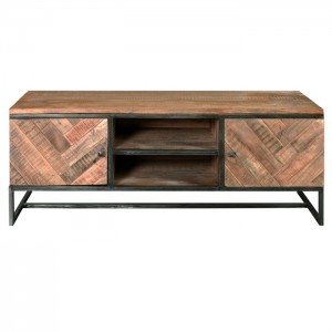 Angle Industrial Parquetry Entertainment unit TV Stand