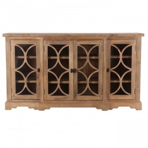 French Arched Glass Doors Sideboard