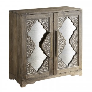 French Arched Carved Mirror Doors Sideboard