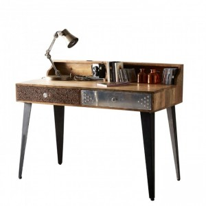 Lava Industrial Emboss Pressed Metal Office Study Desk Computer Table