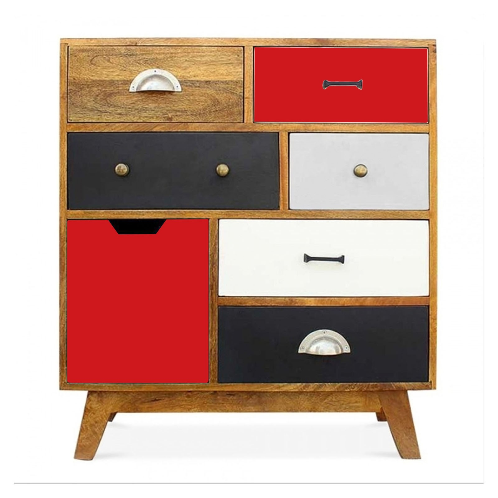 Vivid Solid Wood Contemporary Modern Chest Of Drawers
