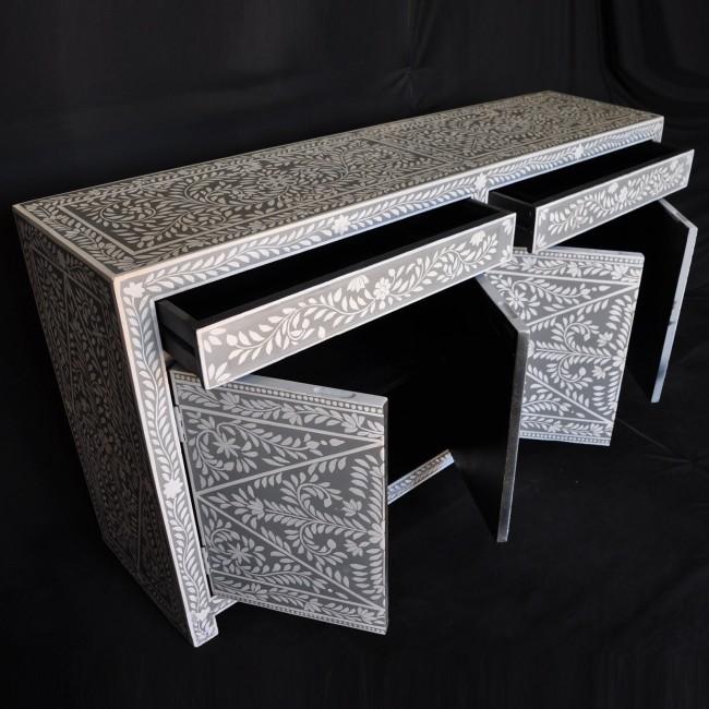 Pandora Bone Inlay Grey Floral Sideboard