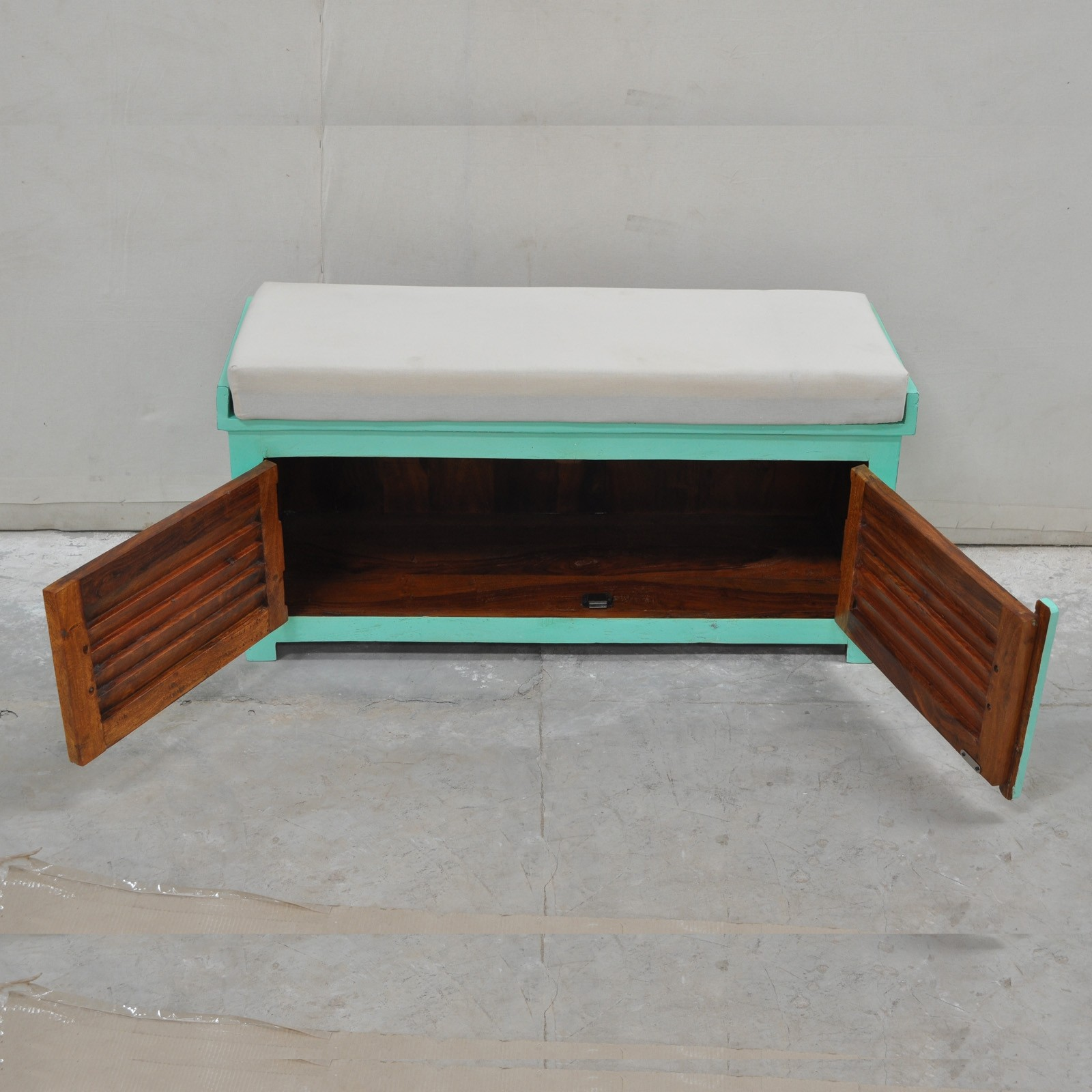 Solid Wood Bench Sofa Couch Storage Chest Furniture: Shutter Solid Wood Storage Chest With Seat